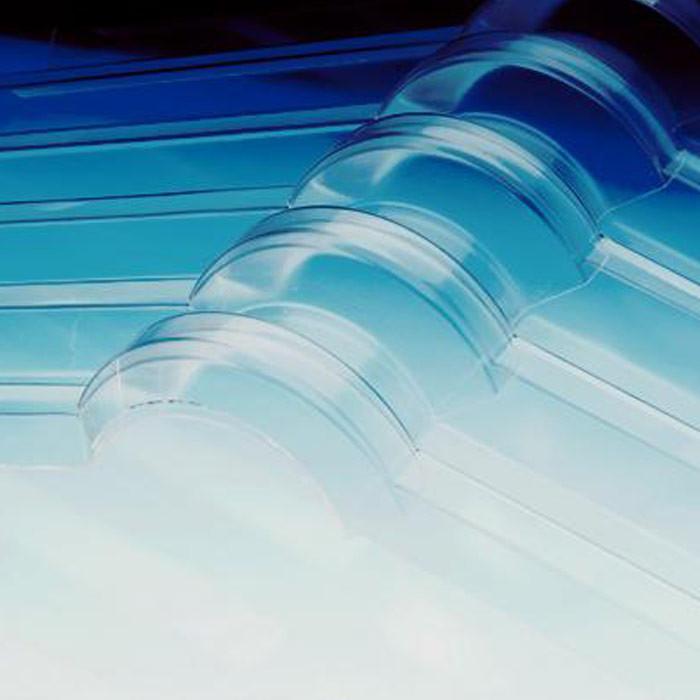 Wellfirsthaube Acryl für Überdachungen mit transparenten Wellplatten