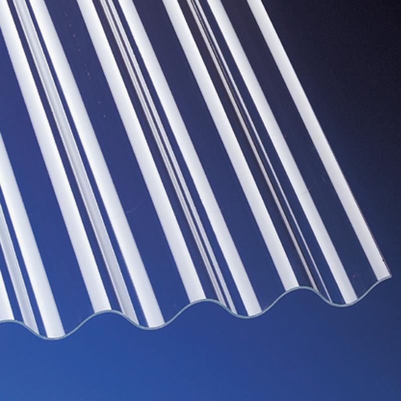 Wellplatten Acrylglas 3mm glatt P8 130/30 klar für Terrassenüberdachung, Carport und mehr
