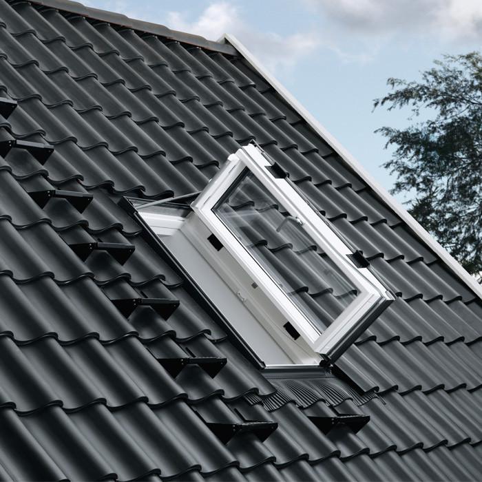 VELUX Wohn- und Ausstiegsfenster GXU Kunststoff, weiß