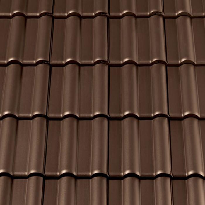 Glatter dachziegel preis  Dachziegel C64M1 dunkelbraun günstig kaufen | frankebaustoffe.de