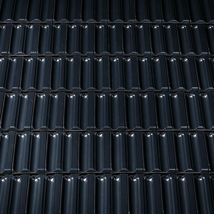 Dachziegel anthrazit glasiert  Creaton Dachziegel RATIO FINESSE schwarz glasiert | frankebaustoffe.de