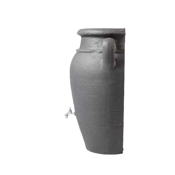 Antik-Wand-Amphore Darkgranite 260 Liter Regentonne