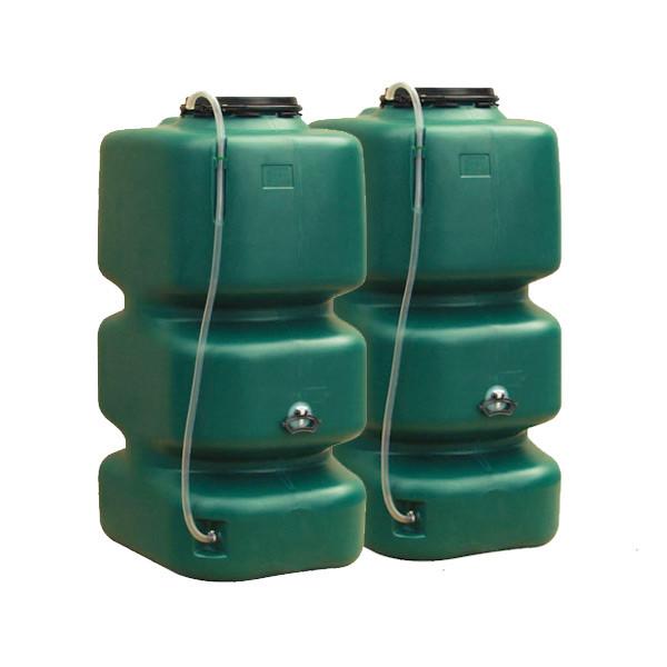 Garantia Gartentank Set 2x1000 Liter Regentonnen