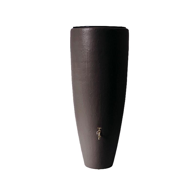 Graf / Garantia 2in1 Wasserbehälter mocca | Braune Regentonne mit integrierter Pflanzschale