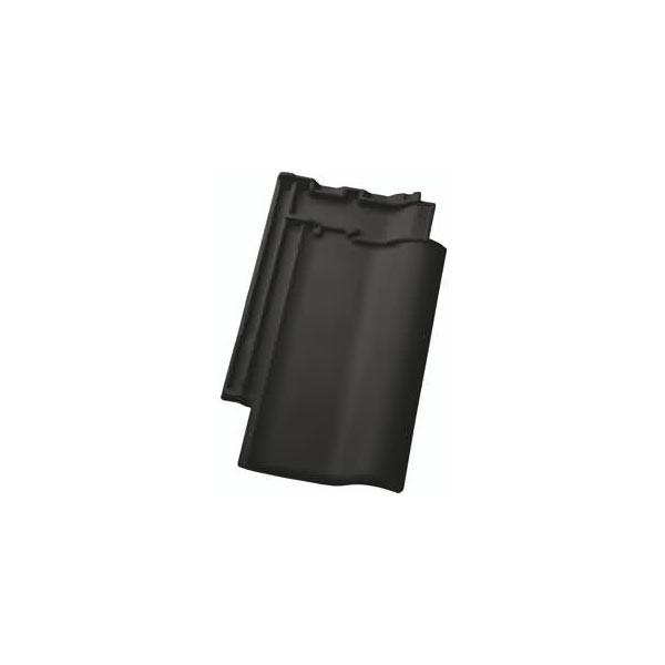 Nelskamp Flachdachziegel F12 Ü - Nord in schwarz matt engobiert