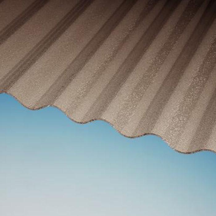 Wellplatten PLEXIGLAS® RESIST WP 76/18 Rund 3 mm C-Struktur braun