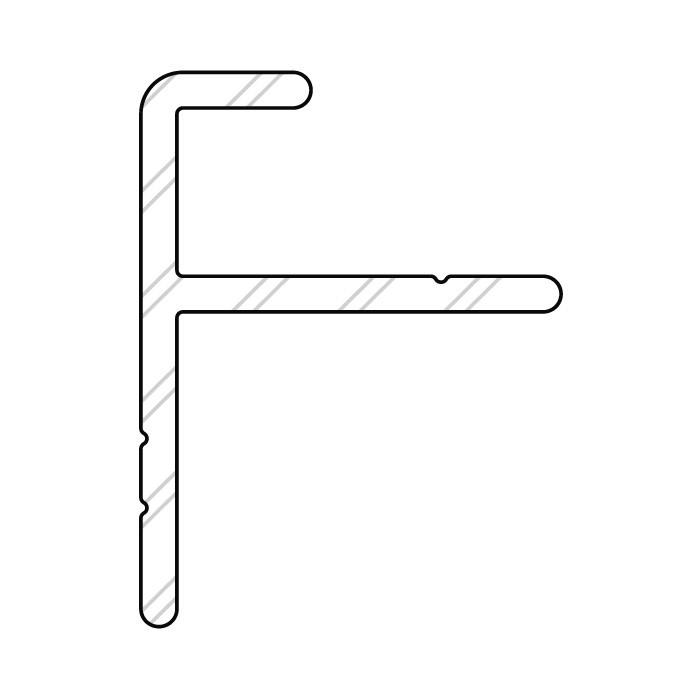 Alu Start-/Endprofil 9366 für Holz- und Alu-Trägersystem