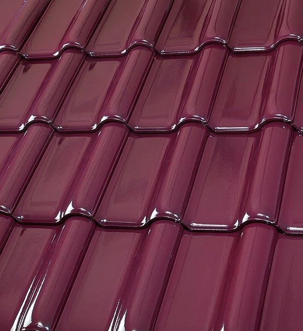 Röben Dachziegel Flandernplus barolo Glasur - Groß-Flachdachziegel