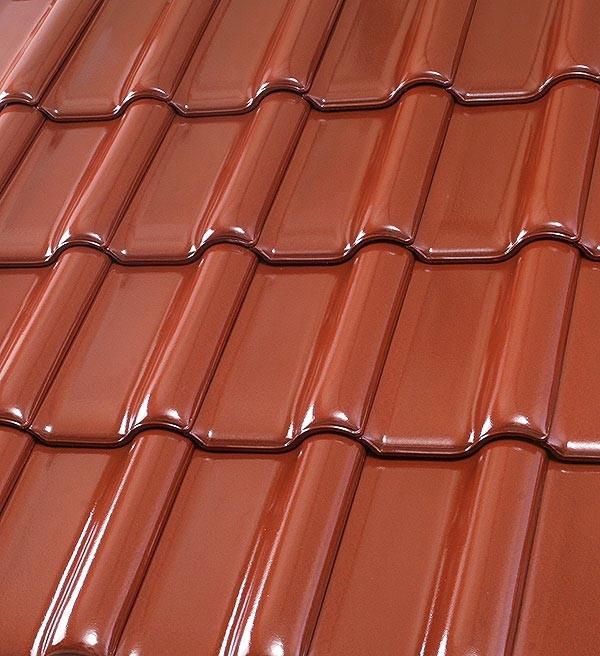 Röben Dachziegel Flandernplus cayenne Glanz-Engobe - Groß-Flachdachziegel