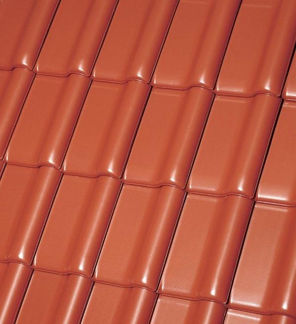 Röben Dachziegel Monzaplus kupfer-rotbraun - Flachdachziegel