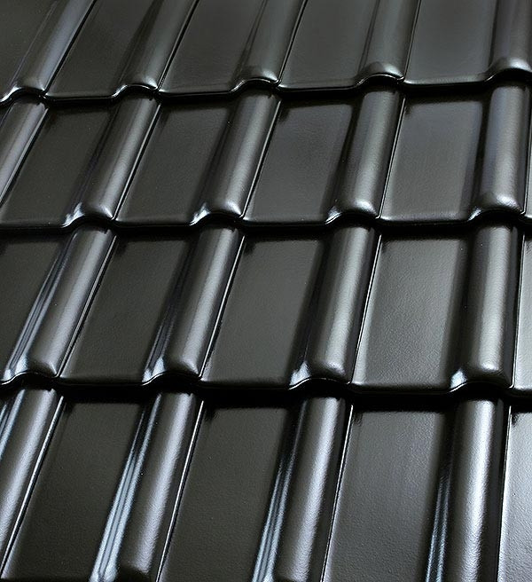 Röben Dachziegel Piemont schwarz - Flachdachziegel