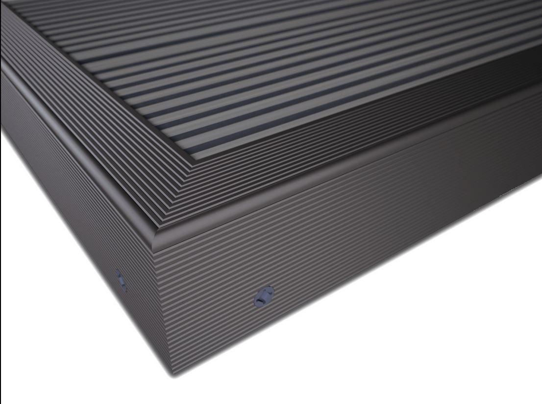 Zubehör Twinson 9518-12 Rand-/Abschlussprofil 50 x 42 x 4.500 mm Schwarz 12 (bodendielen)