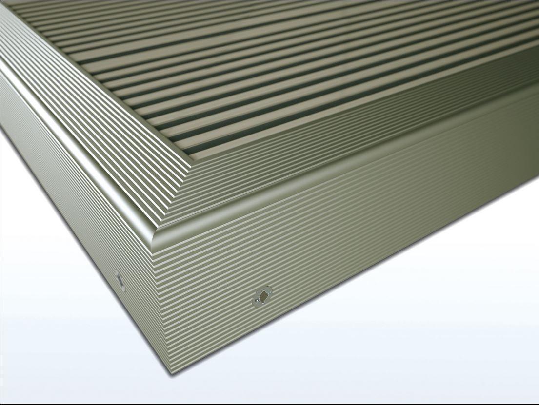 Zubehör Twinson 9518-65 Rand-/Abschlussprofil 50 x 42 x 4.500 mm Silber 65 (bodendielen)