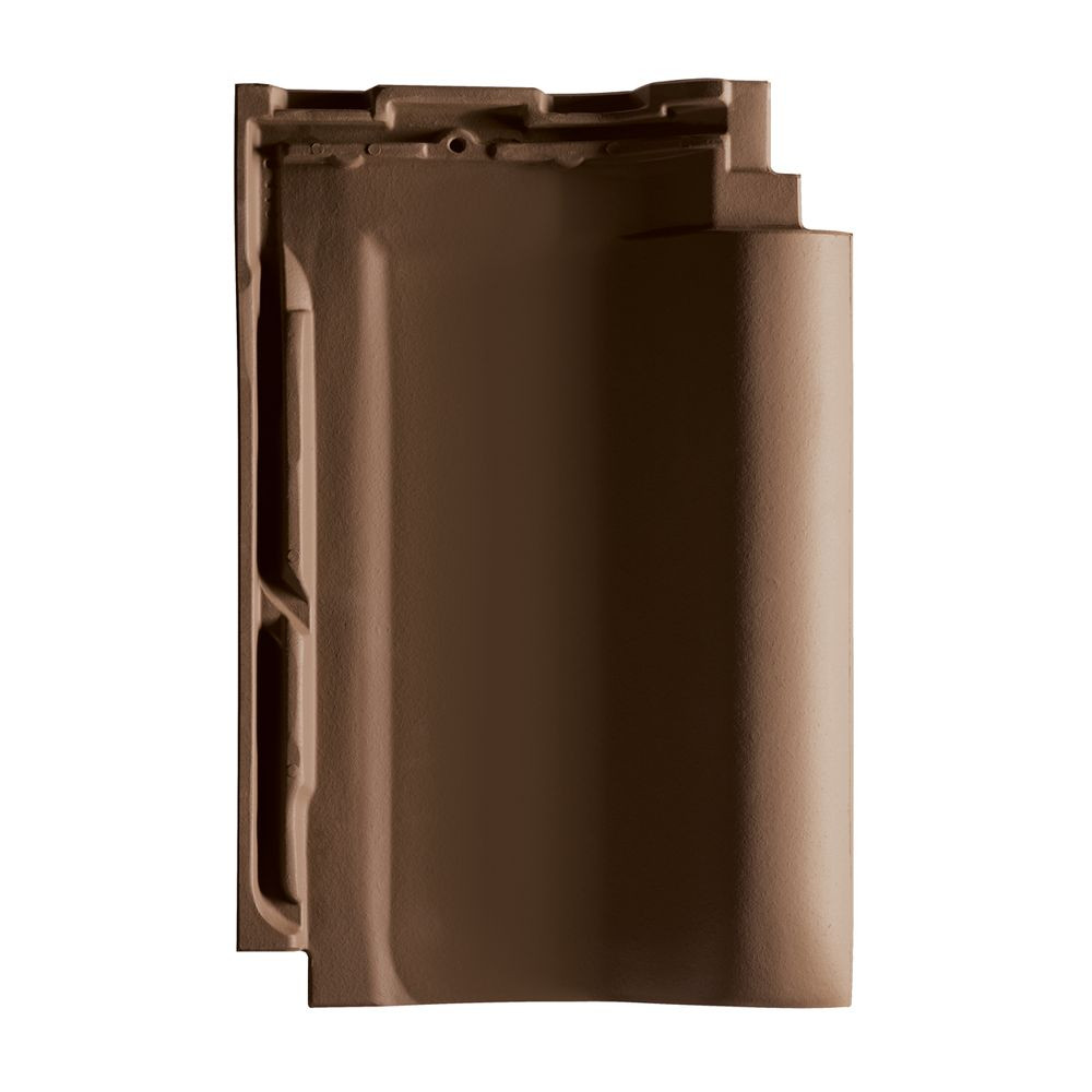 TONETTO® Dachpfannen dunkelbraun engobiert - Dachziegel aus Ton