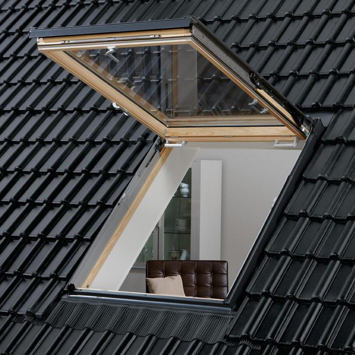 VELUX Wohn-Ausstiegsfenster GTL, Holzfenster, klar lackiert