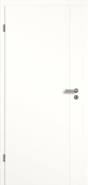 Zimmertür mit Zarge Weißlack Senesi SF1