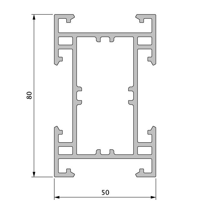 unterkonstruktion alu tr gerprofil die gro e 9524. Black Bedroom Furniture Sets. Home Design Ideas