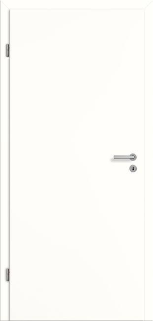 Zimmertür Weißlack CPL - schlichte glatte Innentür
