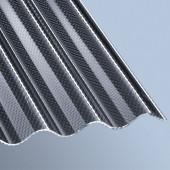 Acryl Profilplatten Wabe Sinus 76/18 graphit