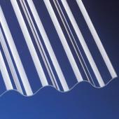 Acrylglas Wellplatten 3mm glatt P5 Sinus 177/51 klar für Terrassenüberdachung, Carport und mehr