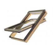 FAKRO Dachfenster Kunststofffenster PTP-V/PI U3 in Kieferdekor und Dauerlüftung V35