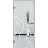 Ganzglastür Motiv S38 - Sandstrahlmotiv