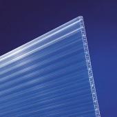 Polycarbonat hohlkammerplatten Cross 16mm klar longlife - Doppelstegplatte mit 5-fach Struktur