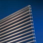 Polycarbonat Stegplatten 16mm bronce longlife - Steg 3-fach - Doppelstegplatte