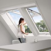 VELUX Dachfenster Klapp-Schwingfenster GGU, Kunststoff, weiß