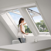 VELUX Dachfenster Klapp-Schwingfenster GGU 0068, Kunststoff, weiß