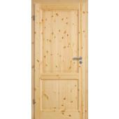 Vollholz-Zimmertür Svenska 2G Kiefer astig lackiert