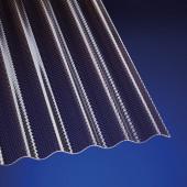 Polycarbonat Wellplatten hagelfest 2,6 mm Sinus 76/18 Wabe bronce für Terrassenüberdachung, Carport und mehr