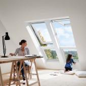 VELUX GIL Zusatzelement Dachschräge Holz weiß