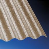 Polycarbonat Wellplatten hagelfest 2,5 mm 76/18 C-Struktur bronce für Terrassenüberdachung, Carport und mehr