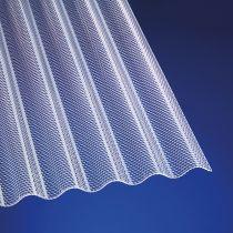 Polycarbonat Wellplatten hagelfest 2,6 mm 76/18 Wabe transparent klar für Terrassenüberdachung, Carport und mehr