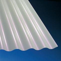 Acrylglas Wellplatten Sunstop 3 mm Sinus 76/18 opal-weiß für Überdachungen und Wandverkleidungen