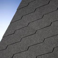 Bitumendachschindeln DiamantShield 01 schwarz - IKO