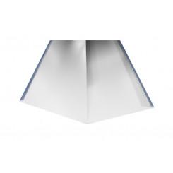 Briel Kehlblech Aluminium Weiß