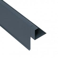Briel Biber-Ortgangblende Aluminium Alu Anthrazitgrau