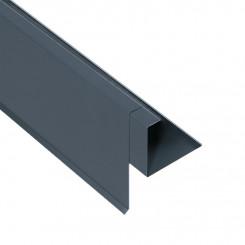 Briel Ziegel-Ortgangblende Aluminium Alu Anthrazitgrau