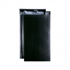 Creaton Domino Glattziegel Finesse schwarz glasiert