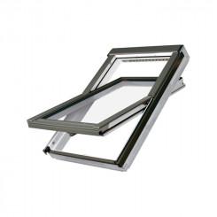 FAKRO Dachfenster FTU - Schwingfenster aus Holz weiß lackiert