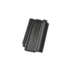 Flachdachziegel N80 schwarz edelengobiert