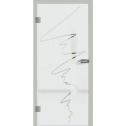 Ganzglastür Motiv S36 - Sandstrahlmotiv