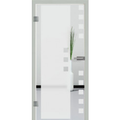Ganzglastür Motiv S8 - Sandstrahlmotiv