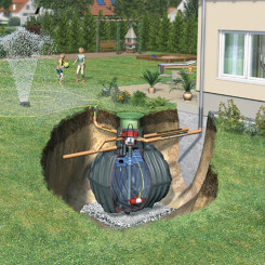 Graf Regenwasser-Erdtank Carat Garten-Komfort