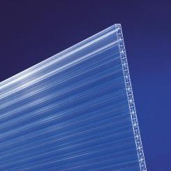 Polycarbonat hohlkammerplatten Cross 16mm klar longlife - Doppelstegplatte mit X-Struktur