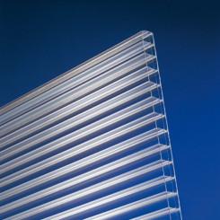 Stegplatte aus Polycarbonat 16mm klar longlife
