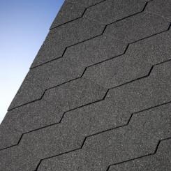Diamant® Plus Dachschindeln schwarz - IKO Dreieckschindeln