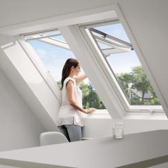 VELUX Dachfenster Klapp-Schwingfenster GPU, Kunststoff, weiß
